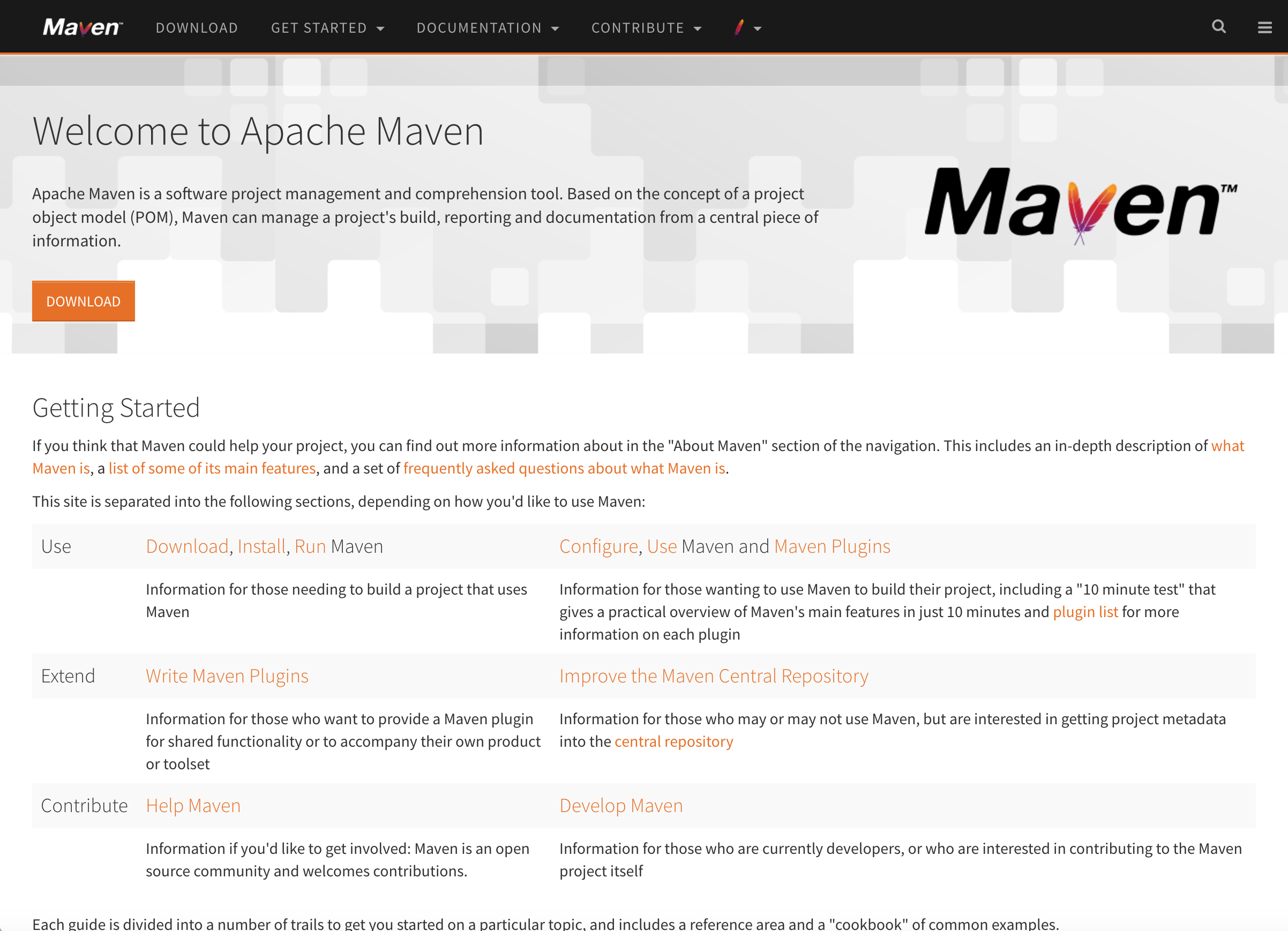 maven_homepage_partial.png